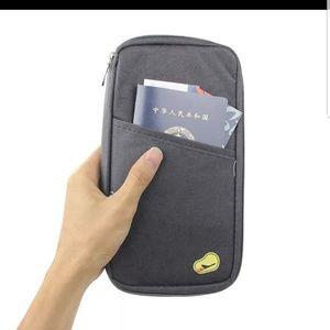 Handbags - Black passport document holder travel wallet